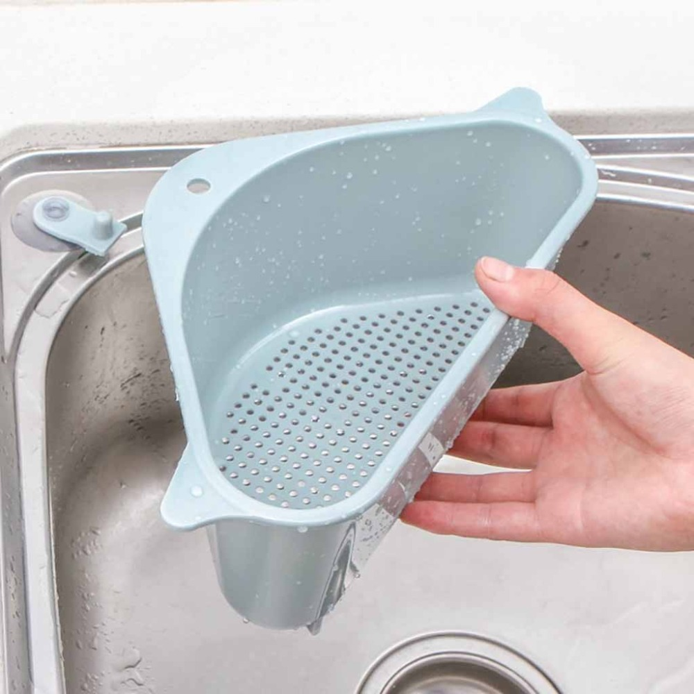 Kitchen Sink Storage Rack Portable Household Baskets Soap Sponge Drain Storage Tool Popular Useful (2)