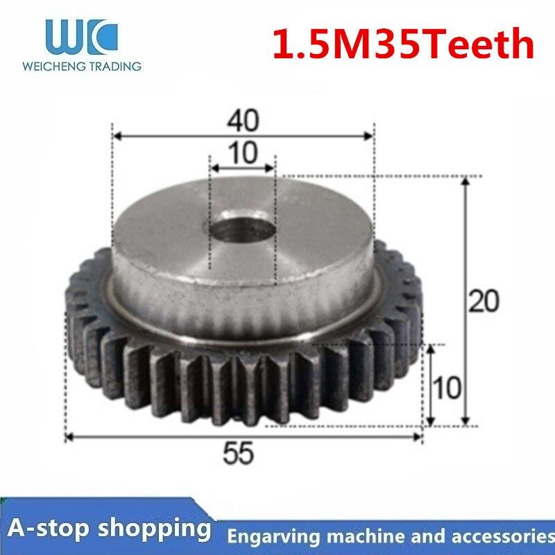 30 dientes Engranajes rectos módulo 0,5 de acero Engranaje