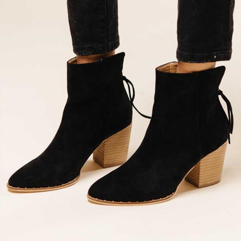 Mcckle/женские ботильоны; женская леопардовая обувь на молнии; женская обувь на шнуровке с острым носком; женская обувь на не сужающемся книзу массивном каблуке; большие размеры; Прямая поставка
