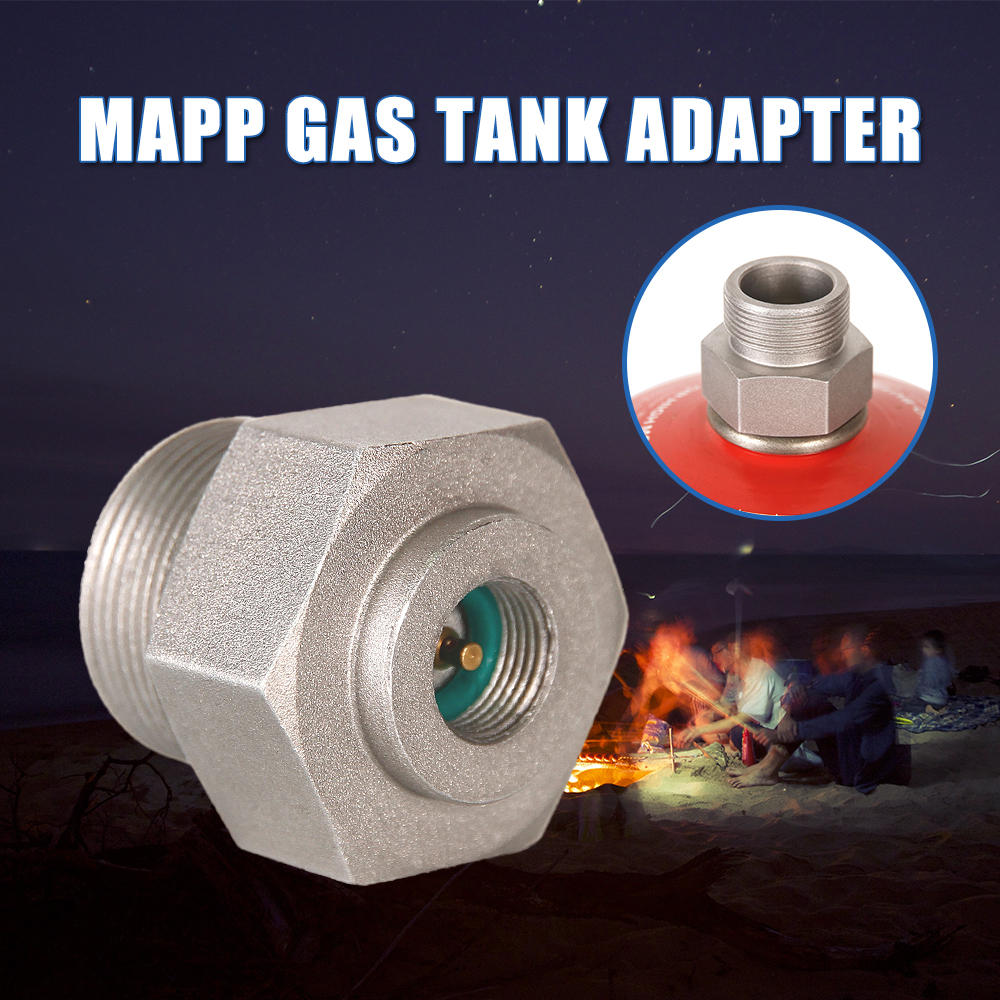 Camp Stove Connector Gas Burner Adapter Converter Propane Refill Connector