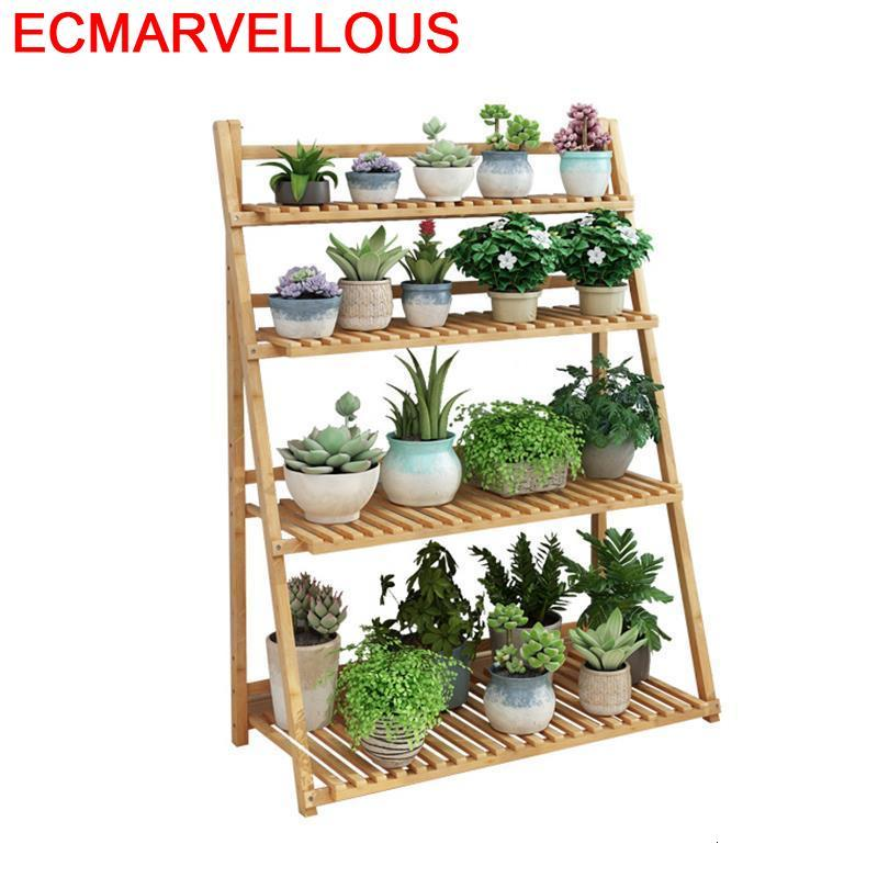 For Rak Bunga Living Room Pot Estanteria Jardin Estante Para Plantas Terraza Dekoration Outdoor Balcony Flower Shelf Plant Stand