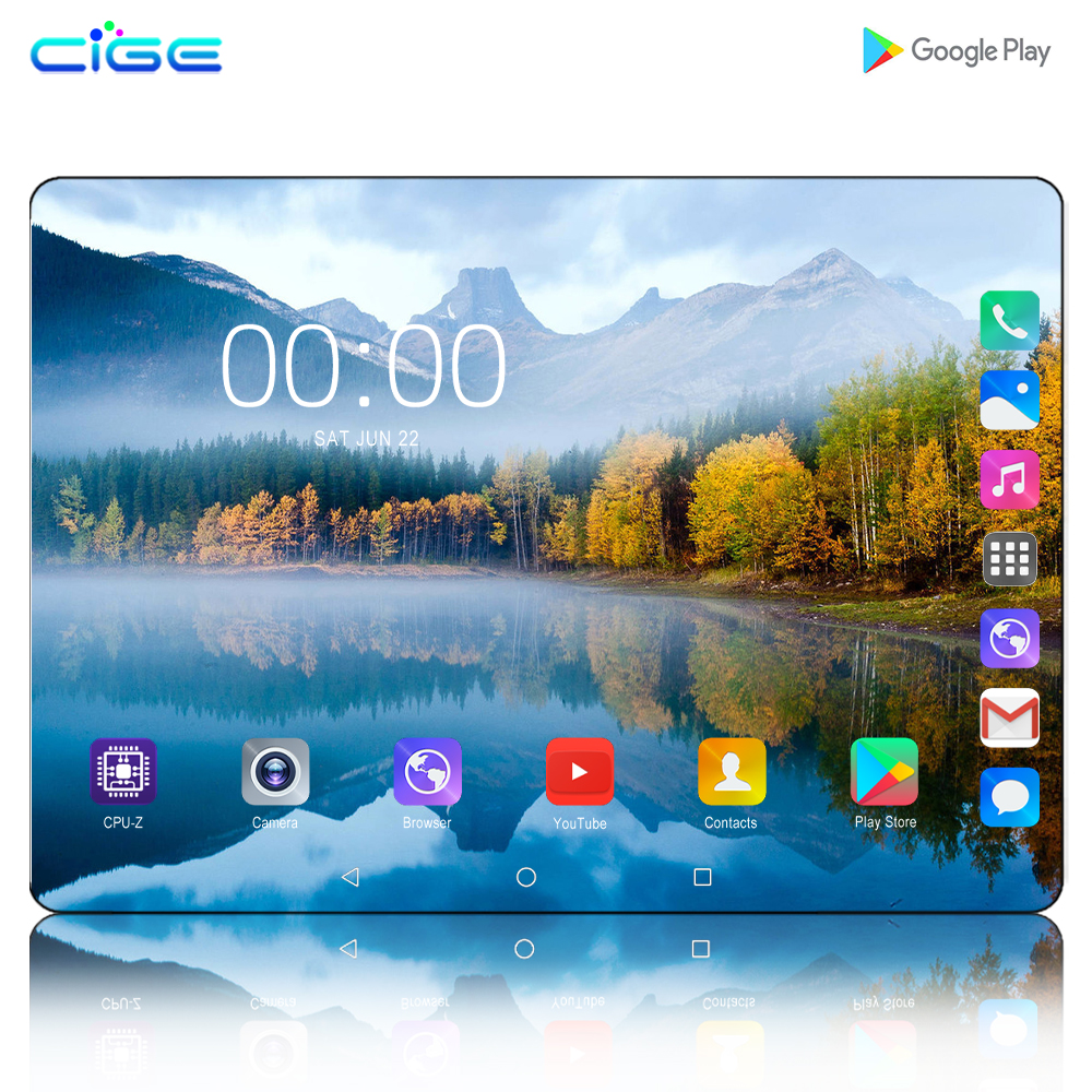 2020 Best-selling 10 Inch 4G LTE Phone Call Tablet Pc Android 9.0 Octa Core 6GB+128GB CE Brand Dual SIM Card 10.1 WiFi Tablets