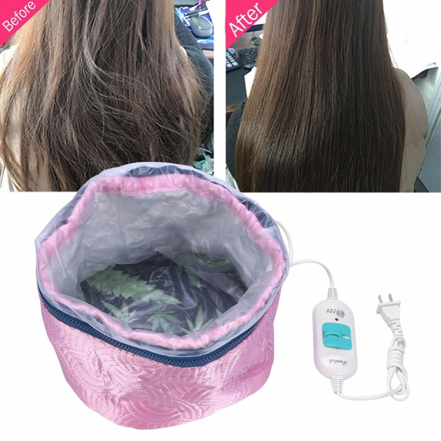 Hair Mask Baking Oil Cap Thermal Treatment Heating Cap Temperature Controlling Protection Electric Hair Steamer Mask Cap220V 6