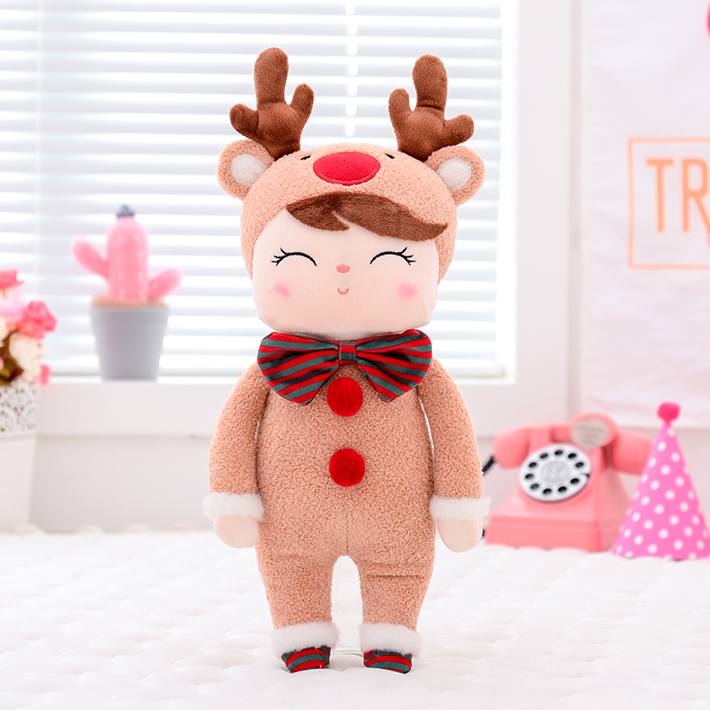 Metoo Plush Toys Angela Christmas Dolls With Box Dreaming Girl Plush Deer Stuffed Gift Toys For Kids