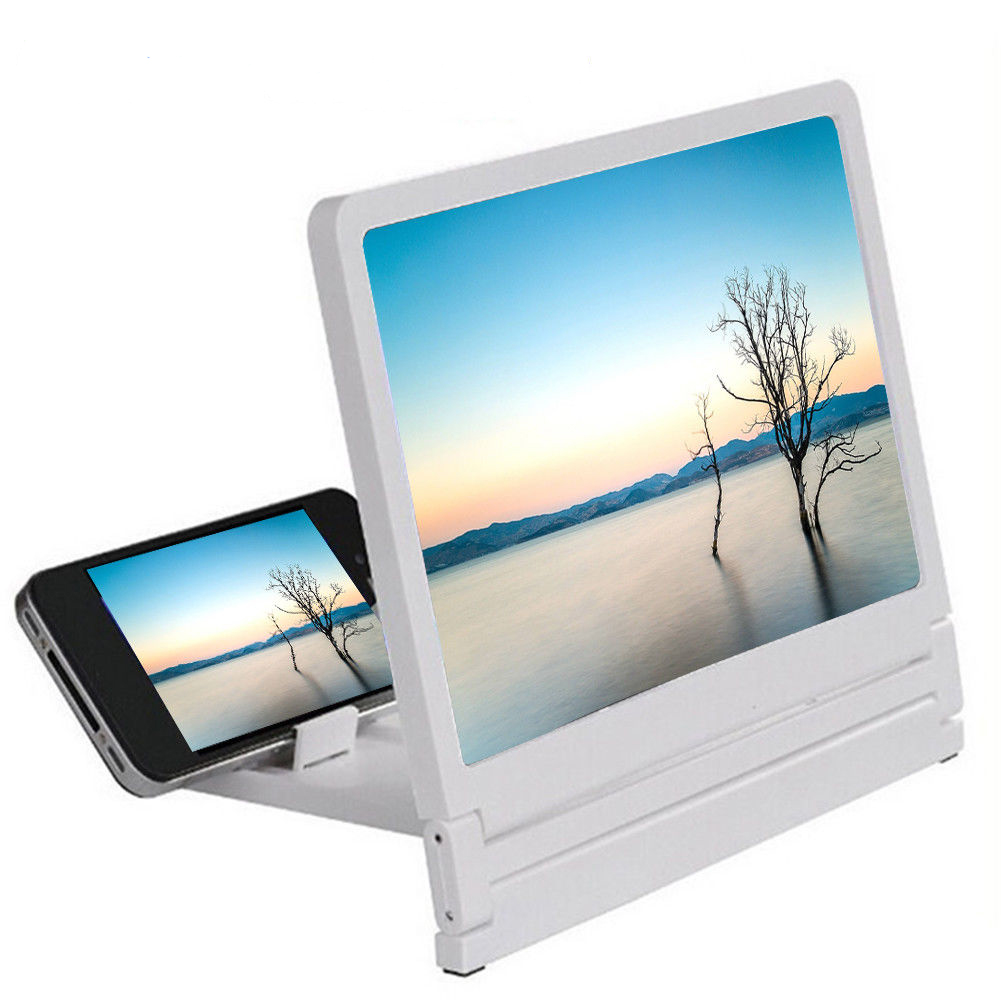 Mobile Phone Screen Magnifier Glass 3D Movies Screen Cell Phone HD Amplifier For Smart Phone Holders Bracket Holder Play