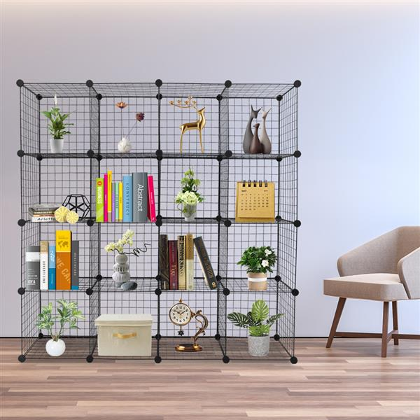 12/16/20Cube Cube Storage Storage Shelves Wire Origami Shelves Metal Grid Multifunction Shelving Unit Modular Organizer Bookcase