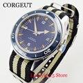 Nologo механические мужские часы 41 мм синий циферблат вращающийся ободок сапфировое стекло ST Move Мужские t нейлоновый ремешок