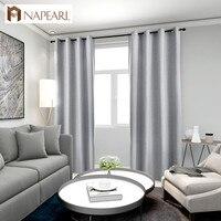 NAPEARL 1 Stück 100% Schattierung Blackout Vorhänge für Wohnzimmer Fenster Alle Spiel Solide Design Moderne Vorhänge Wohnkultur Elegante-in Vorhänge aus Heim und Garten bei