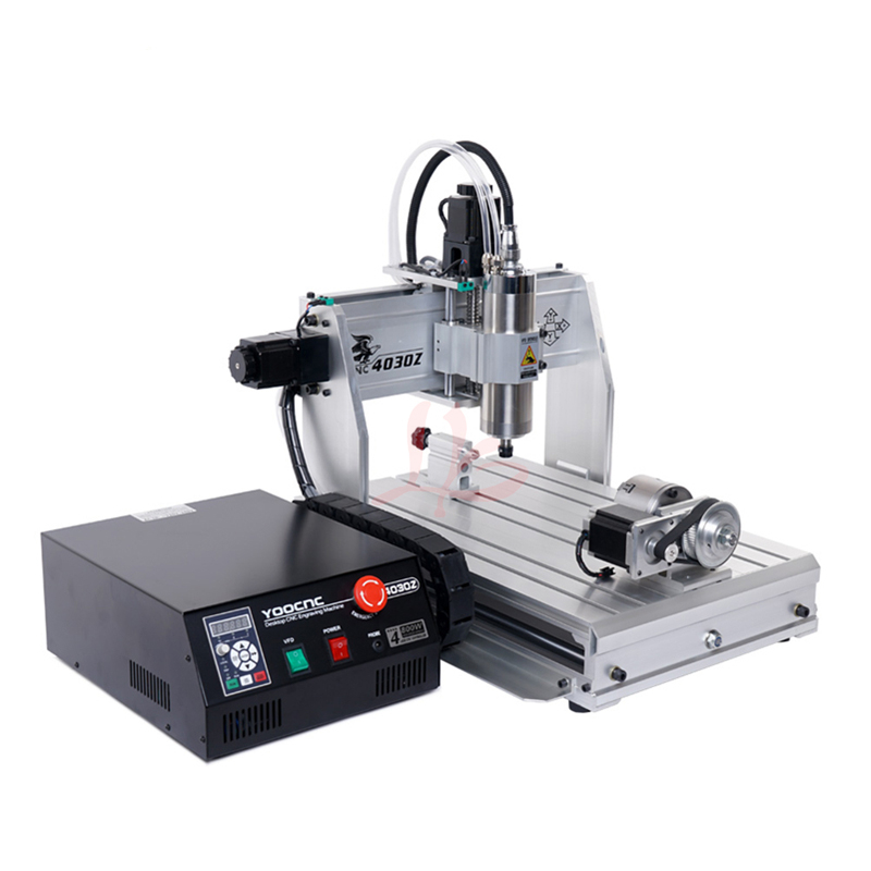 3 4 Axis CNC Router 4030 3040 Engraving Machine 800W 1500W USB Port ER11 Collet Mach3 Control