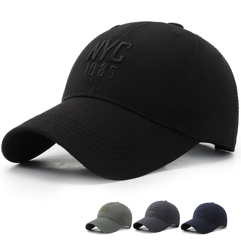 2019 New Korean Casual NYC Embroidery Baseball Cap Men Women Outdoor Sun Visor Hat Ladies Cap 100%cotton Fishing Hats