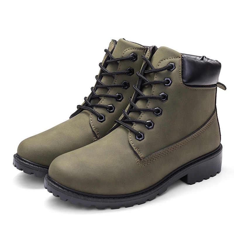 Caliente botines de mujer botas camuflaje Martin botas para mujer zapatos de felpa caliente de las mujeres botas de invierno botas botines de mujer de talla grande 42