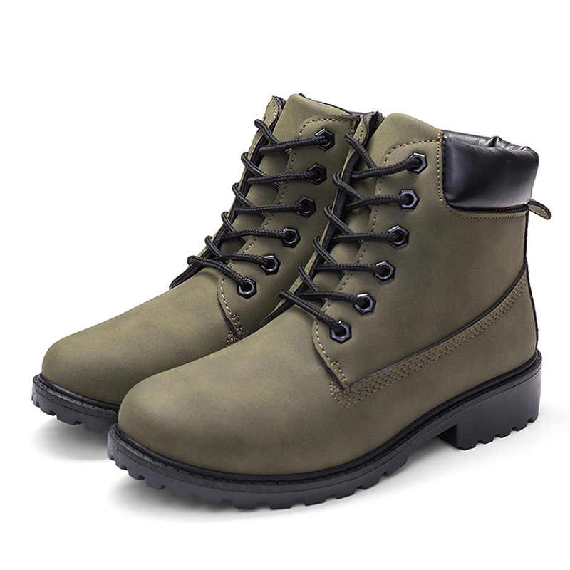 Hot Enkellaars Voor Vrouwen Laarzen Camouflage Martin Laarzen Voor Vrouwen Schoenen Pluche Warm Vrouwen Winter Laarzen Vrouwen Booties Plus maat 42
