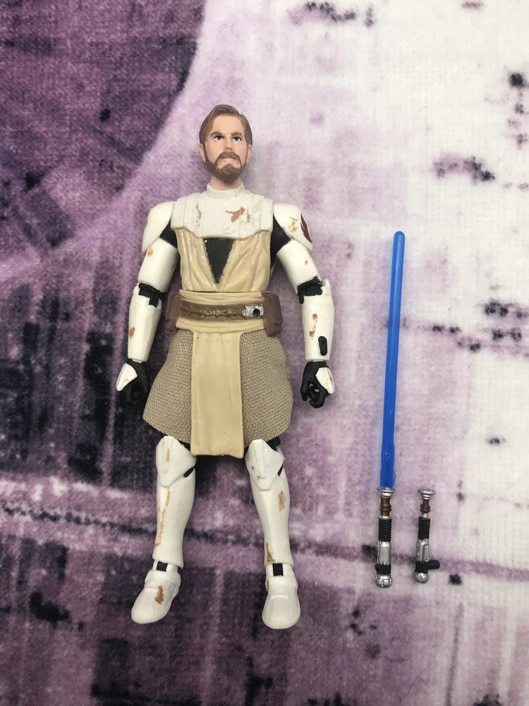 3.75inch Star Wars: The Clone Wars Jedi Knight Obi-Wan anime action & toy figures model toys for children