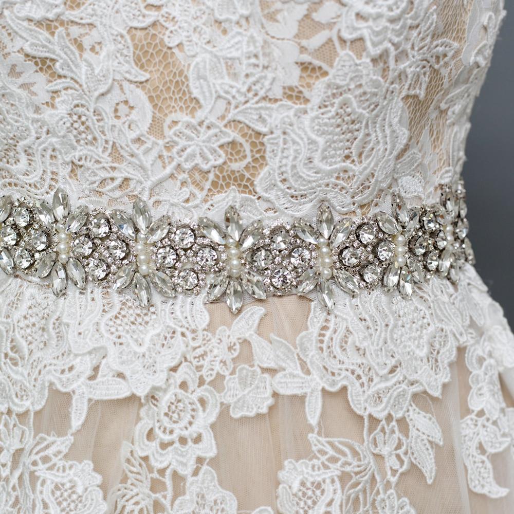 TRiXY S13 Crystal Wedding Belt Rhinestone Czech Stones Bride Bridal Belt Sashes Wedding Accessories Evening Dress Belt Sashes