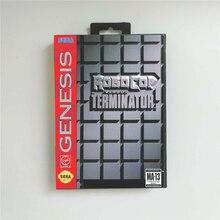 Robocop vs Terminator abd kapak perakende kutusu ile 16 Bit MD oyun kartı Sega Megadrive Genesis Video oyunu konsol
