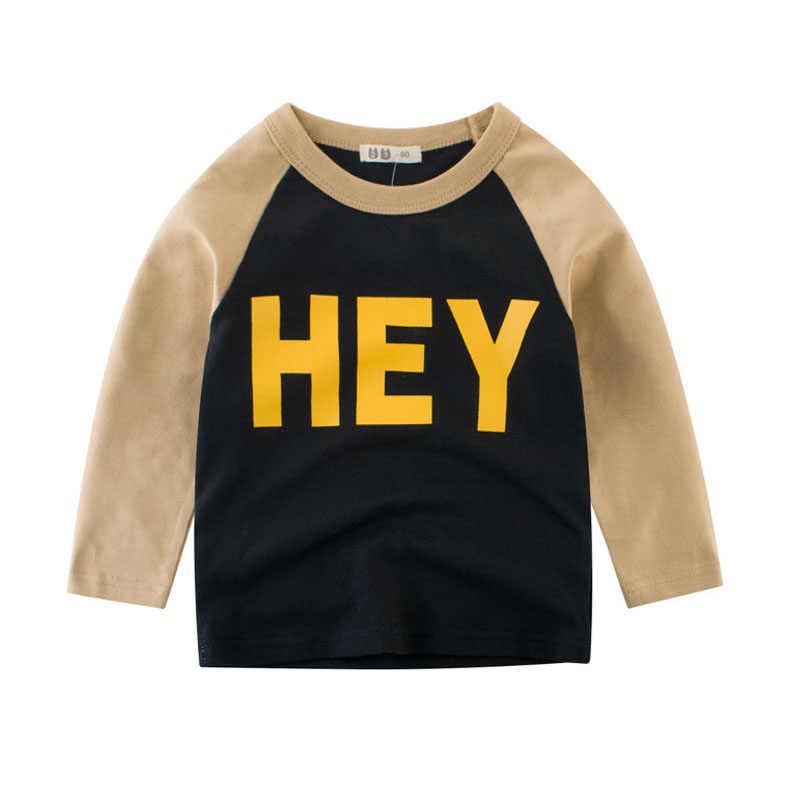 เด็กเสื้อยืดเด็ก Splice เสื้อแขนยาวหญิงฤดูใบไม้ร่วงฤดูหนาว Sweatshirt 2 3 4 5 6 7 8 ปีเด็กเสื้อ T เสื้อผ้า