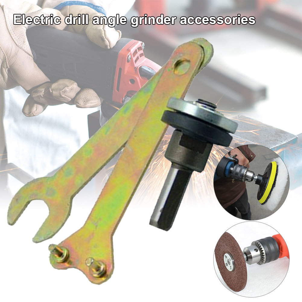 5 Pcs/Set 6mm/ 10mm Electric Drill Variable Angle Grinder Connecting Rod For Cutting Disc Polishing Wheel Adapter