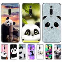 Super Cute Panda Custodie per Xiaomi Redmi K20 Nota 8 7 8A 6 Pro 6A 7A 7S 5 Più s2 ANDARE In Silicone Nero Tampa Del Telefono Coque Casos