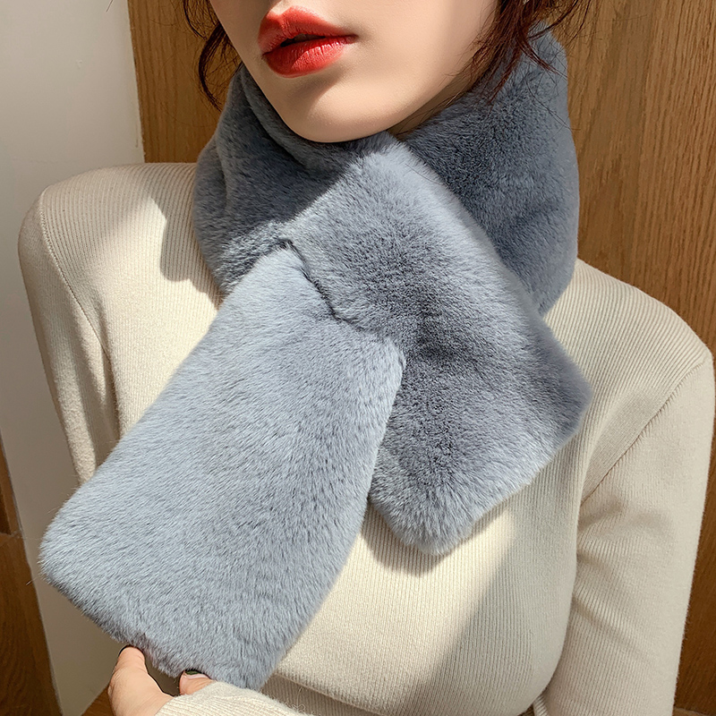 Fashion Women Ladies Fur Collar Short Warm Winter Scarf Sarves Wrap