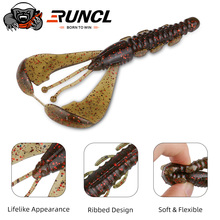 RUNCL 15/25pcs Larva Soft Lures 115mm 11g Fishing Artificial Lure Silicone Bass Pike Swimbait Jigging Plastic Baits Worm