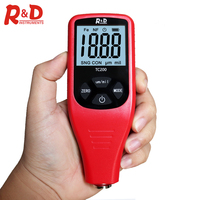 R&D TC200 Car Paint Coating Thickness Gauge 0.1um/0-1500 Film Thickness Tester Measuring FE/NFE Russian Manual Paint Too Red
