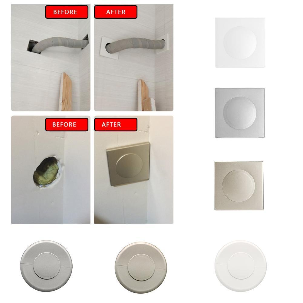 6 Types Plastic Wall Wire Hole Cover Air-conditioning Grommet Dust Pipe Cable Plug Cover Protector Hardware Furniture Decor E7H1