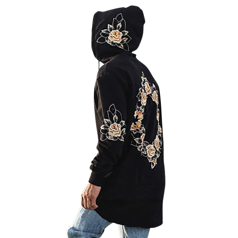 Men Fashion Men's Winter Jacket Autumn Spring Hoodies Loose Long Sleeve Casual Simple Fashion Print Embroidery Hooded* /