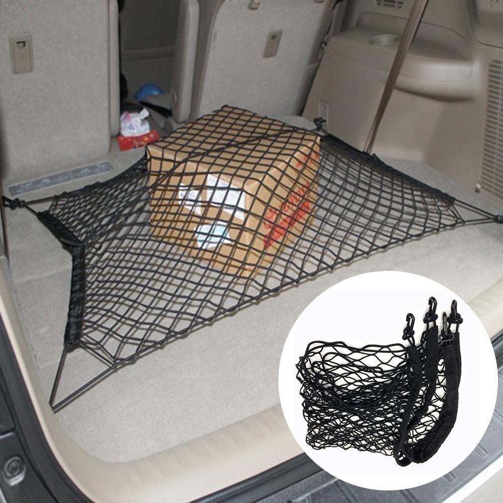 Автоуход 70X70 см, универсальный органайзер для хранения багажа в багажник автомобиля, нейлоновая эластичная сетка с 4 пластиковыми крючками
