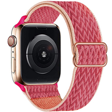 Scrunchie Nylon Strap for Apple Watch band 44mm 40mm 42mm 38mm Adjustable Stretchy Solo