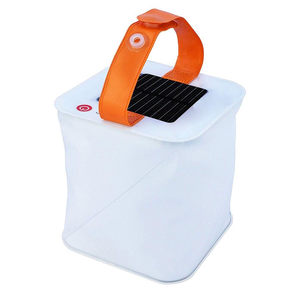 Portable Outdoor Novelty Design Night Lighting Lamp Inflatable Solar Lantern Solar Folding Telescopic Airbag Lighting Lamps