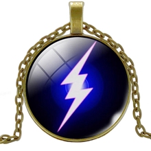 Heat! 2019 New Lightning Pattern Glass Cabochon Jewelry Necklace Pendant Popular Gift Fashion Banquet