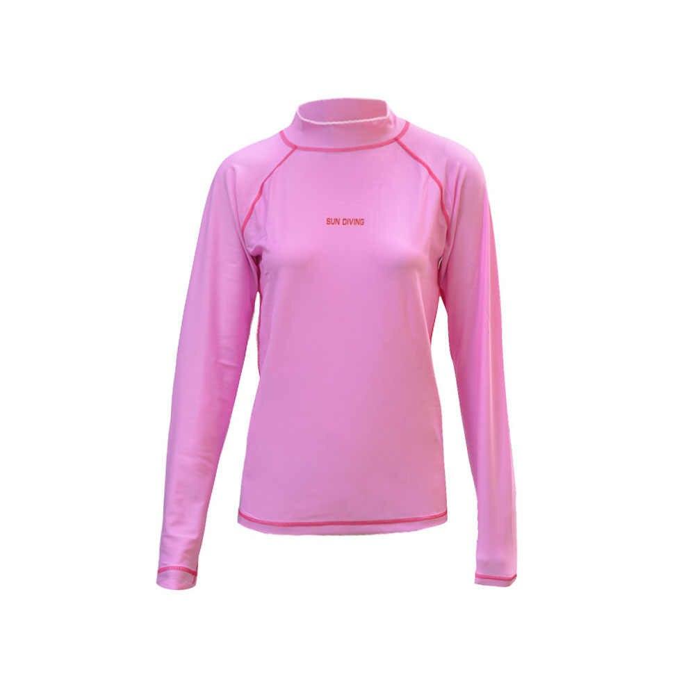 WYOTURN розовый для женщин UPF50 + Рашгард с длинными рукавами для серфинга Rashguard купальник новые женские футболки для бега серфинг топы для плавания