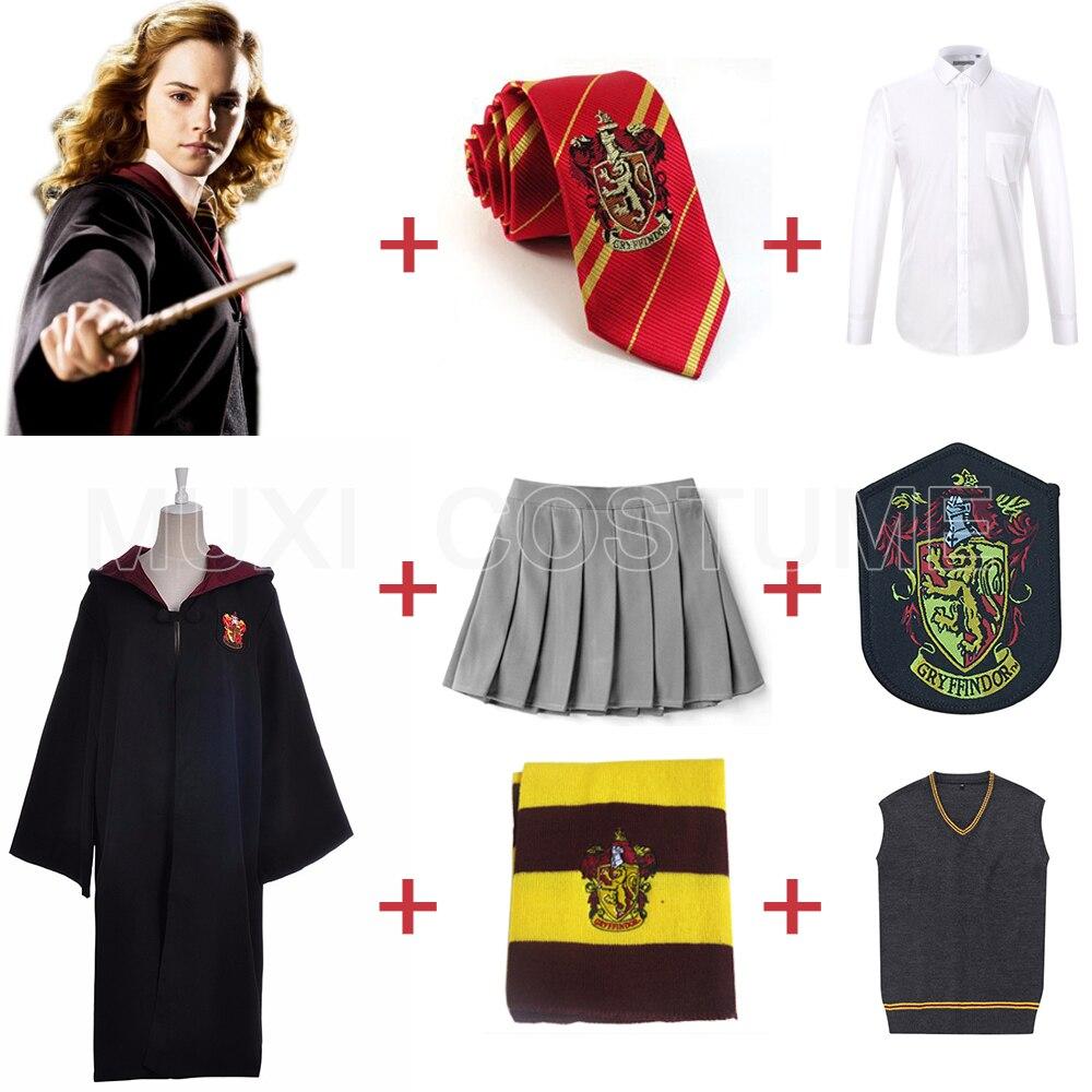 Kids Adult Gryffindor Uniform Hermione Granger Cosplay Costume Version Halloween Party New Gift Harris Costumes