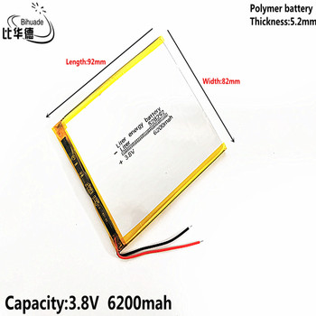 Good Qulity Liter energy battery 3.8V,6200mAH 528292 Polymer lithium ion / Li-ion battery for tablet pc BANK,GPS,mp3,mp4 image