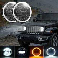 7 Inch Car LED Light Assembly Headlight DRL Hi/Lo Beam 4x4 Off Road For Jeep Wrangler JK TJ LJ CJ Lada Niva Land Rover Defender