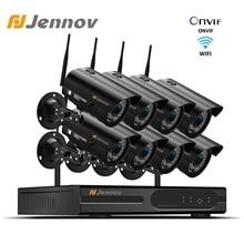 Jennov 1080P Home Security Kamera System NVR Wifi Drahtlose 8Ch 2MP Kamera Video Überwachung CCTV Kamera kit IP66 Outdoor p2P