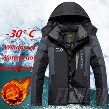 Fishing Clothing Winter Autumn Winter Waterproof Warm Fishing Jackets Men Fleece Thick Outdoor Fishing Shirts L-9XL outdoor two piece suit jackets men winter coats warm waterproof clothing windbreaker outdoor jacket camping coat fishing tops