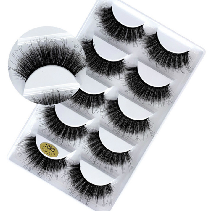 5/10/15Pair Handmade False Eyelashes Fake Eye Lashes Extensions Tools Soft 3D Lashes Full Strip Lashes Mink Eyelashes Makeup