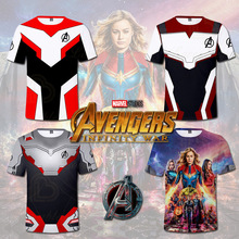 Avengers Endgame Cosplay Boys and Girls T Shirt 3d T-shirt Casual Top Round Neck Streatwear Short Sleeve Tshirt Kids Size plus size round neck cut out t shirt
