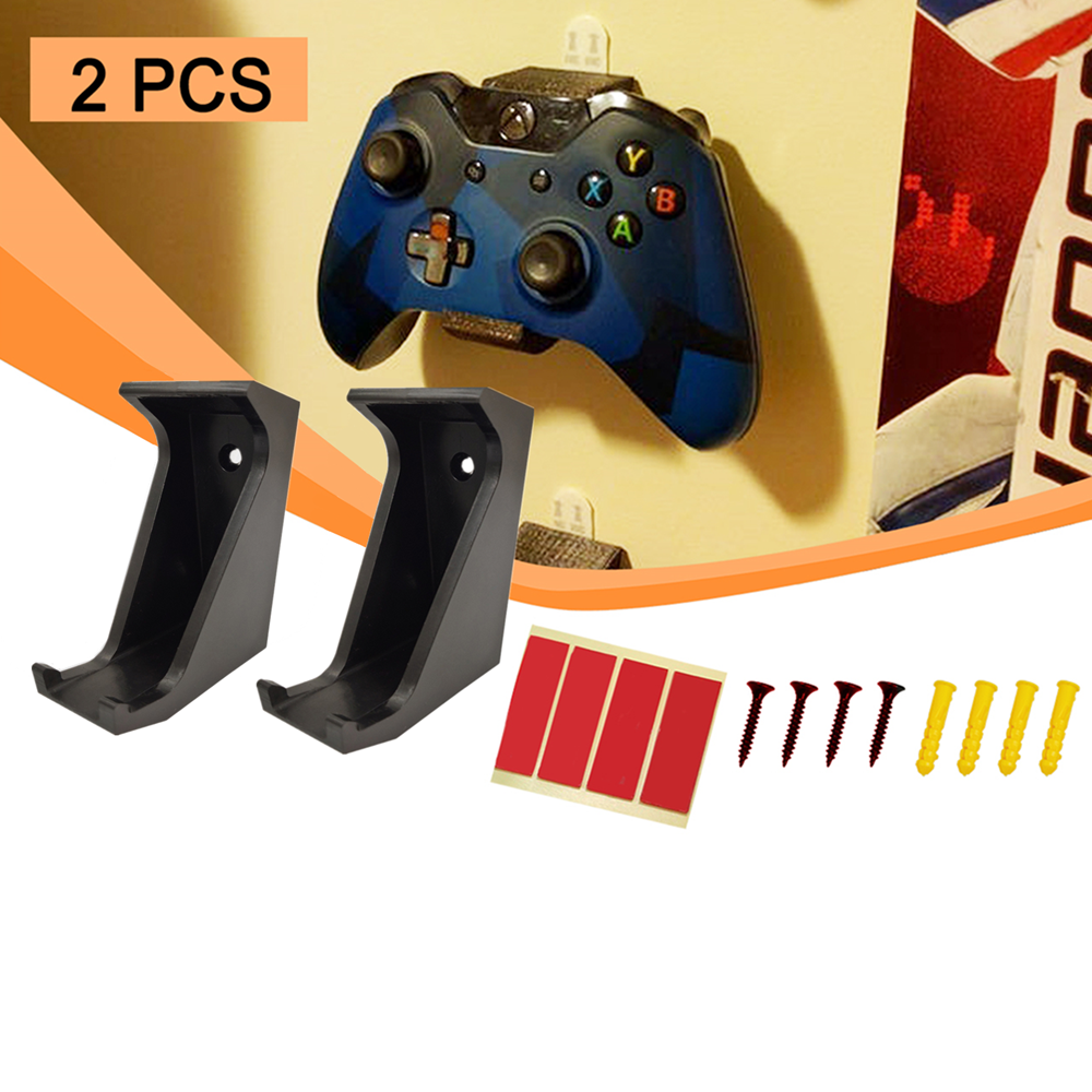 2pcs Wall Mount Stand Holder Bracket For PS4 Xbox One Controller Gamepad Game Accessories Send Screw Sticker Best Quality