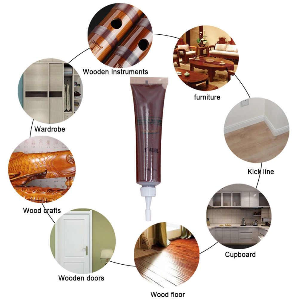 Kit de retouche de meubles en bois | Crème pour marqueur, cire dissolvant de remplissage réparation DIN889