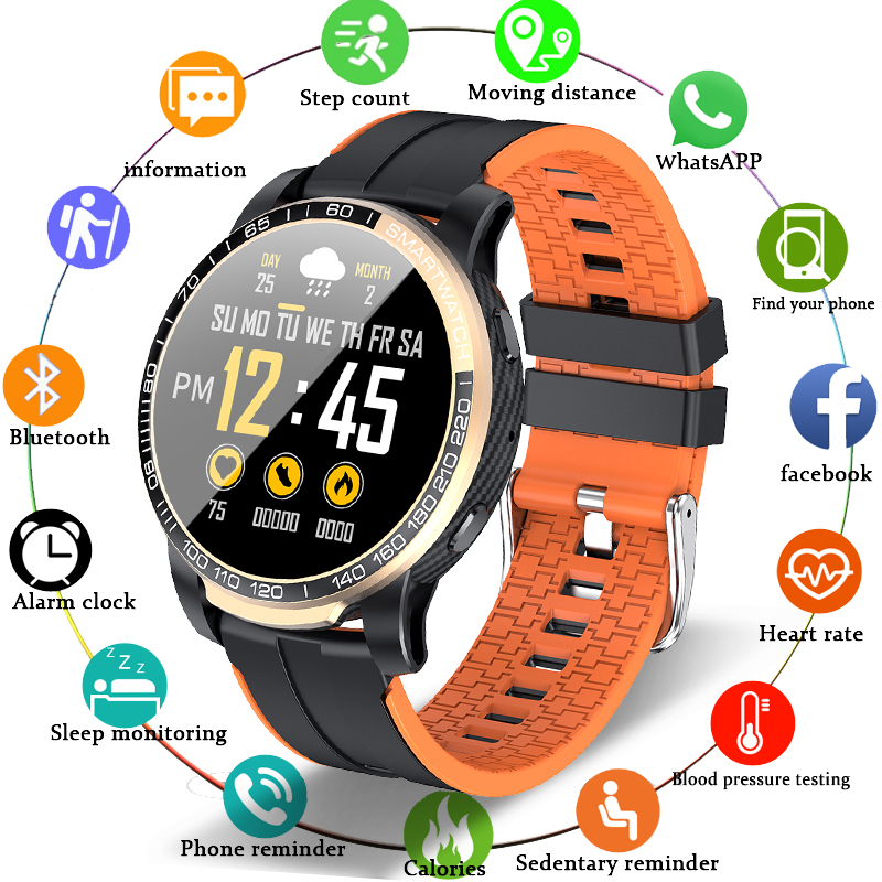 LIGE Smart Watch Phone Full Touch Screen Sport Fitness Watch IP68 Waterproof Bluetooth Connection smartwatch Men For Android ios