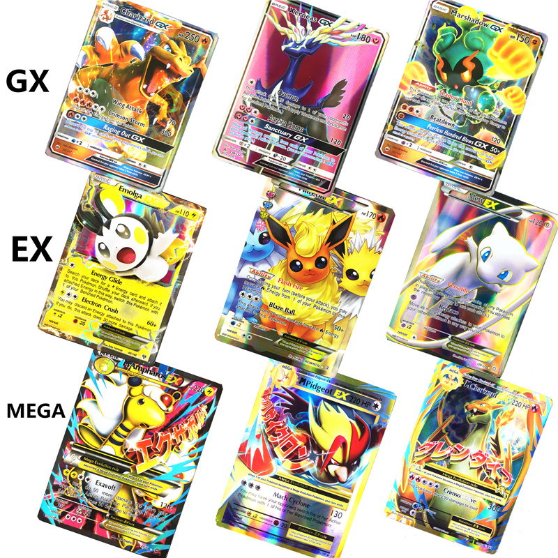 2019 NEW 10-324 Game Collection Trading GX Pokemones Cards For Funs Children English Language Toy