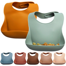 Модный силиконовый нагрудник водонепроницаемый детский нагрудник одноцветные нагрудники в виде банданы для новорожденного кормления Слюнявчик