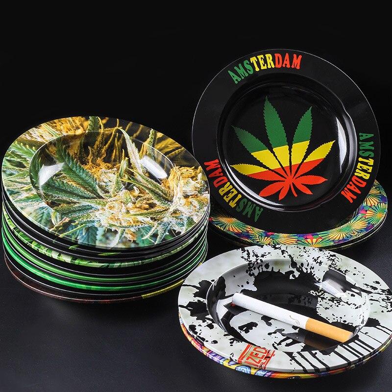 Cenicero para cigarrillos ideal como regalo para hombres Marihuana