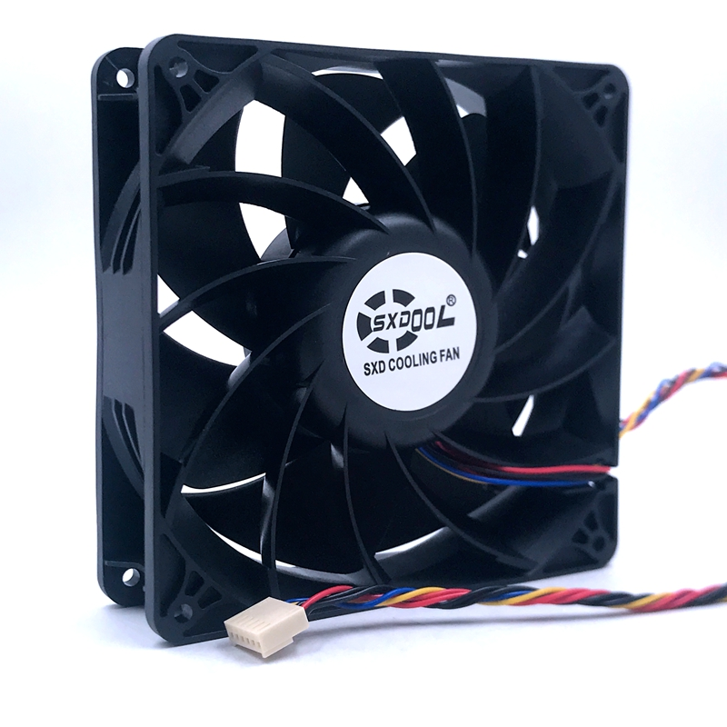 Powerful new 6Pin <font><b>fan</b></font> <font><b>140mm</b></font> 14038 DC <font><b>12V</b></font> 4A 5600RPM 280CFM For E9+ E10 bitcoin miner cooling <font><b>fan</b></font> replace PFM1412DE image
