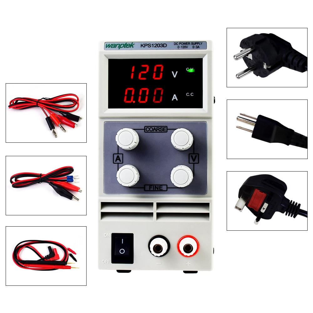 adjustable dc power supply KPS1203D 1202D 1201D dual digital display laboratory power supply regulator 120V 3A 2A 1A 0.1V 0.01A-0