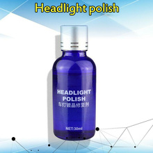 30ml Car Headlight Refurbishment Agent Lamp Plating Headlights Renovation Repair Liquid Polishing Coating & Sponge