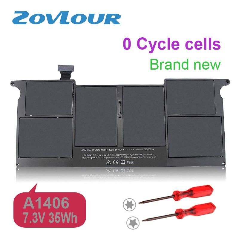 Zovlour batterie d'ordinateur portable A1406 pour Apple Macbook Air 11