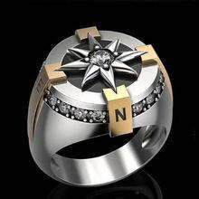 Мужское и женское двухцветное круглое кольцо с микро инкрустацией